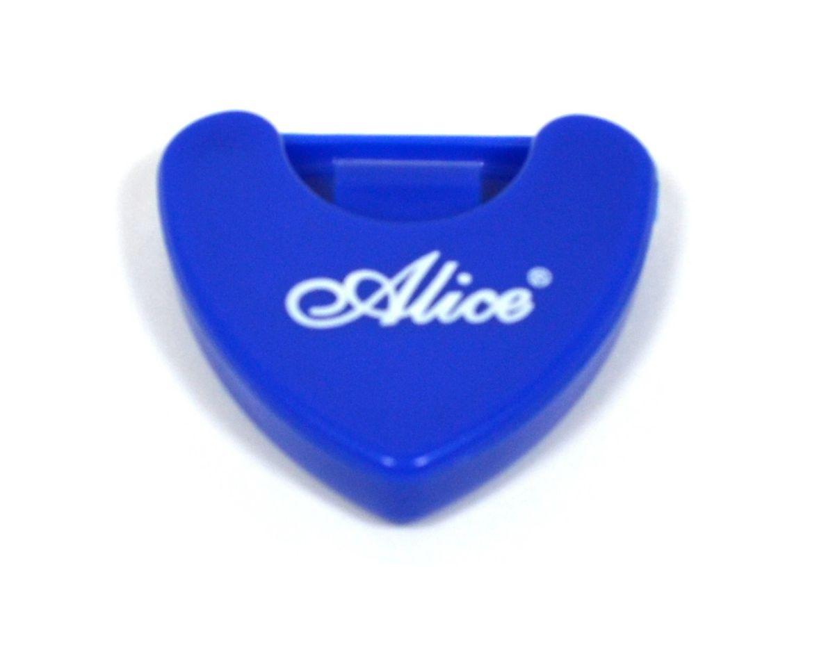 Porta palheta auto-adesivo de plástico para instrumentos de corda - Cor Azul - Alice (A010A)  - Luthieria Brasil