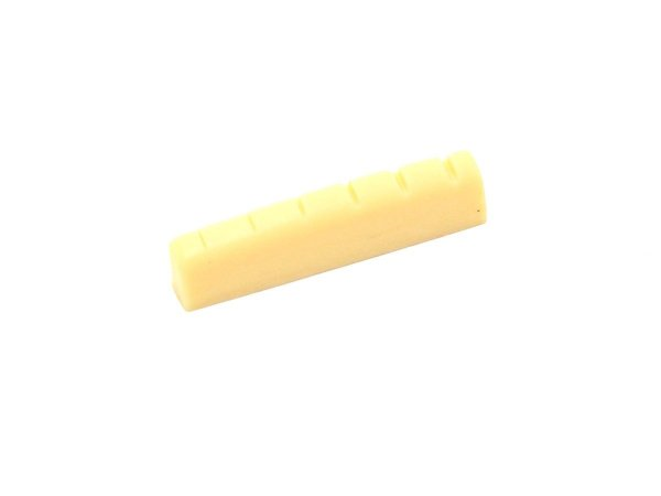 Nut de plástico cor creme para guitarra (43mm x 9mm x 6mm)  - Luthieria Brasil