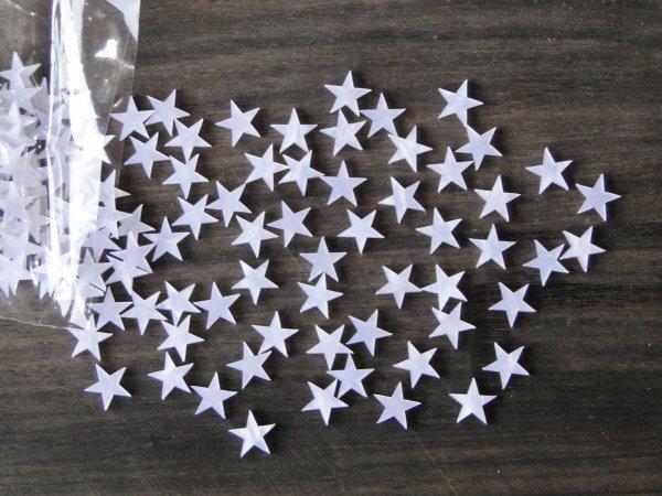 """Inlay/Marcações (dots) formato """"estrela"""" - Padrão 2 - Acrílico branco perolado (9.7mm x 9.3mm x 2mm) (Pacote com 12 un)  - Luthieria Brasil"""
