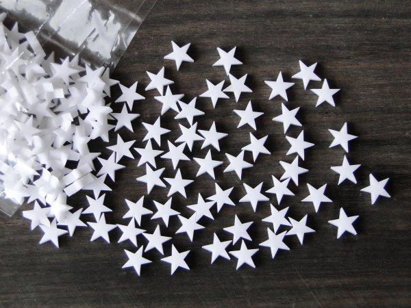 """Inlay/Marcações (dots) formato """"estrela"""" - Padrão 2 - Acrílico branco (9.7mm x 9.3mm x 2mm) (Pacote com 12 un)  - Luthieria Brasil"""