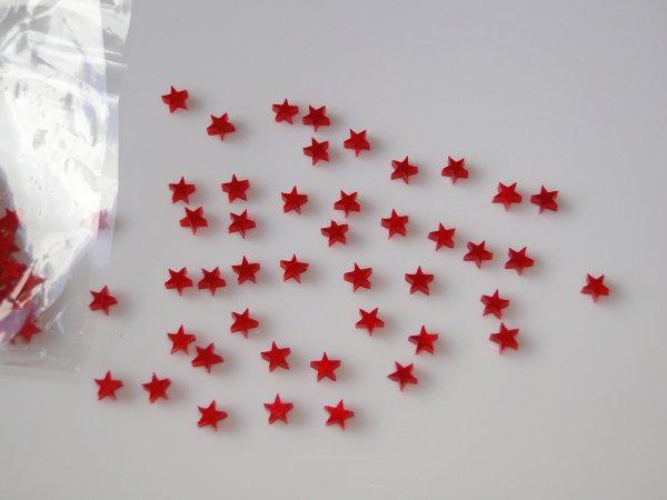 """Inlay/Marcações (dots) formato """"estrela"""" - Padrão 1 - Acrílico vermelho perolado (4.4mm x 4.4mm x 2mm) (Pacote com 12 un)  - Luthieria Brasil"""