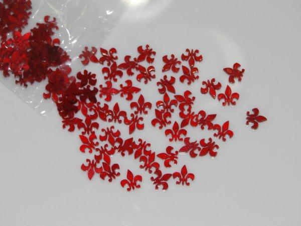 """Inlay/Marcações (dots) formato """"flor"""" - Padrão 2 - Acrílico vermelho perolado - 10,5mm x 10,5mm x 2mm (Pacote com 12 un)  - Luthieria Brasil"""