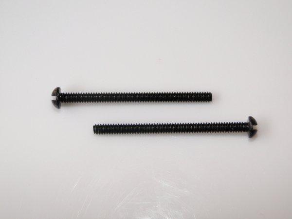Parafuso preto p/ captador humbucker (32mm x 2,2mm) (kit 02 peças)  - Luthieria Brasil