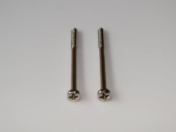 Parafuso cromado p/ captador de baixo (35mm x 2,2mm) (kit 02 peças)  - Luthieria Brasil