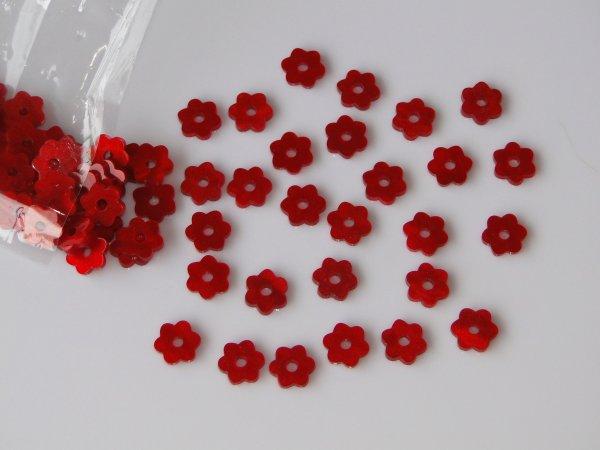 """Inlay/Marcações (dots) formato """"flor"""" - Padrão 5 - Acrílico vermelho perolado - 10,5mm x 9,5mm x 2mm (Pacote com 12 un)  - Luthieria Brasil"""