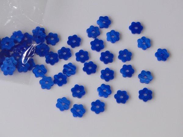 """Inlay/Marcações (dots) formato """"flor"""" - Padrão 5 - Acrílico azul perolado - 10,5mm x 9,5mm x 2mm (Pacote com 12 un)  - Luthieria Brasil"""