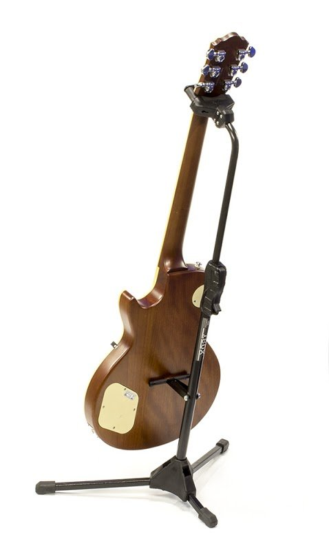 Suporte portátil para instrumento de corda (com trava automática) (Modelo AGSPX) - Ibox  - Luthieria Brasil