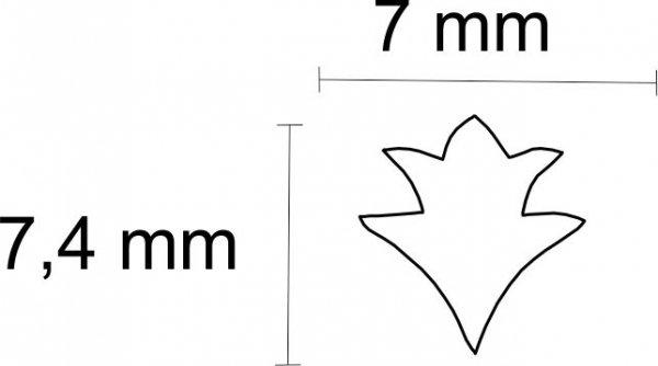 """Inlay/Marcações (dots) formato """"flor"""" - Padrão 7 - Acrílico preto - 7mm x 7,4mm x 2mm (Pacote com 12 un)  - Luthieria Brasil"""