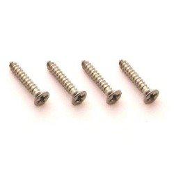 Parafuso cromado para moldura de captador - kit c/ 4 peças (16mm x 2,1mm) (Padrão 1)  - Luthieria Brasil