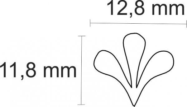 """Inlay/Marcações (dots) formato """"floral"""" - Padrão 8 - Acrílico preto (12,8mm x 11,8mm x 2mm) (Pacote com 12 un)  - Luthieria Brasil"""