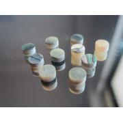 Marcações (dots) redondas para braço - Abalone - 4mm x 2mm (Pacote com 10 un)