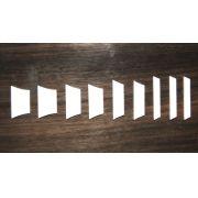 Marcações (dots) para braço de Les Paul/SG - Acrílico Branco (3mm) (Pacote com 9 un)