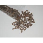 Marcações (dots) diamante (vazado) para braço - Padrão 1 - Acrílico caramelo perolado - 12,5mm x 8mm x 2mm (Pacote com 12 un)