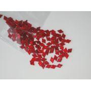 Marcações (dots) diamante (vazado) para braço - Padrão 1 - Acrílico vermelho perolado - 12,5mm x 8mm x 2mm (Pacote com 12 un)