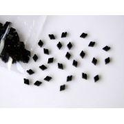 Marcações (dots) diamante (vazado) para braço - Padrão 2 - Acrílico preto - 10.5mm x 7mm x 2mm (Pacote com 12 un)