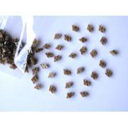 Marcações (dots) diamante (vazado) para braço - Padrão 2 - Acrílico caramelo perolado - 10.5mm x 7mm x 2mm (Pacote com 12 un)