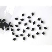 Marcações (dots) diamante (vazado) para braço - Padrão 2 - Acrílico preto perolado - 10.5mm x 7mm x 2mm (Pacote com 12 un)