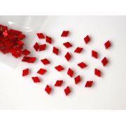 Marcações (dots) diamante (vazado) para braço - Padrão 2 - Acrílico vermelho perolado - 10.5mm x 7mm x 2mm (Pacote com 12 un)
