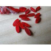 Marcações (dots) oval para braço - Padrão 1 - Acrílico vermelho perolado - 11mm x 4mm x 2mm (Pacote com 12 un)
