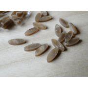 Marcações (dots) oval para braço - Padrão 1 - Acrílico caramelo perolado - 11mm x 4mm x 2mm (Pacote com 12 un)