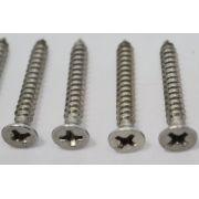 Parafuso de inox para ponte de baixo - kit c/ 4 peças (25mm x 3,5mm)
