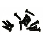 Parafuso preto para tarraxa (10mm x 2,1mm) - Kit 12 peças