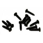 Parafuso preto para tarraxa (8mm x 2,1mm) - Kit 12 peças
