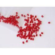 Marcações superiores redondas para braço - Acrílico vermelho perolado - 2mm x 2mm (Pacote com 12 un)