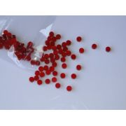 Marcações (dots) redondas para braço - Acrílico vermelho perolado - 3mm x 2mm (Pacote com 12 un)