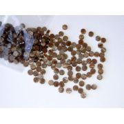 Marcações (dots) redondas para braço - Acrílico caramelo perolado - 5mm x 2mm (Pacote com 12 un)