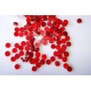 Marcações (dots) redondas para braço - Acrílico vermelho perolado - 6mm x 2mm (Pacote com 12 un)
