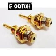 Strap Lock dourado para guitarra/baixo - Kit com 2 unidades - Gotoh (GOT-EPR-2GD)