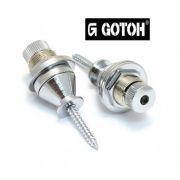 Strap Lock cromado para guitarra/baixo - Kit com 2 unidades - Gotoh (GOT-EPR-2CR)