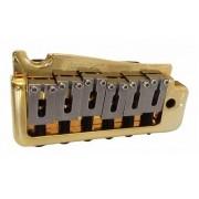 Ponte Dourada Tremolo 2 pivôs estilo Stratocaster para guitarra com carrinhos em aço inox (Bloco 41.2mm) - Wilkinson by Sung-il (WVP)