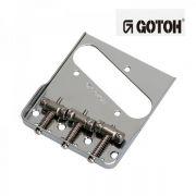 Ponte Níquel estilo Telecaster Vintage (3 carrinhos) para guitarra - Linha Titanium -  Gotoh (TI-TC1-N)