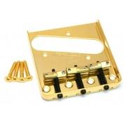 Ponte Dourada estilo Telecaster Vintage (3 carrinhos) para guitarra - Wilkinson by Sung-il (WTB)