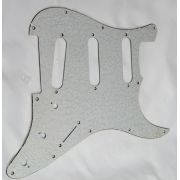 Escudo para Guitarra Stratocaster SSS Paisley Sparkle Branco - 3 camadas (sanduíche) - Dolphin