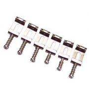 Carrinhos (saddles) cromados modelo vintage para guitarra Strato - Kit com 6 peças - Spirit (S2-105)