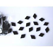 Marcações (dots) diamante (vazado) para braço - Padrão 3 - Acrílico preto - 23mm x 15mm x 2mm (Pacote com 12 un)