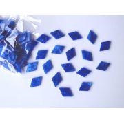 Marcações (dots) diamante (vazado) para braço - Padrão 3 - Acrílico azul perolado - 23mm x 15mm x 2mm (Pacote com 12 un)