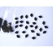 Marcações (dots) diamante (vazado) para braço - Padrão 4 - Acrílico preto perolado - 9mm x 6mm x 2mm (Pacote com 12 un)