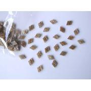 Marcações (dots) diamante (vazado) para braço - Padrão 5 - Acrílico caramelo perolado - 7mm x 5mm x 2mm (Pacote com 12 un)
