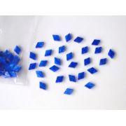 Marcações (dots) diamante (vazado) para braço - Padrão 5 - Acrílico azul perolado - 7mm x 5mm x 2mm (Pacote com 12 un)
