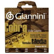 Encordoamento Giannini CV82M Série Cobra (Bronze 80/20) para Viola Caipira (Tensão Média)