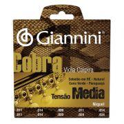 Encordoamento Giannini GESVNM Série Cobra (Níquel) para Viola Caipira (Tensão Média)