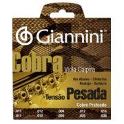 Encordoamento Giannini GESVP Série Cobra (Cobre Prateado) para Viola Caipira (Tensão Pesada)
