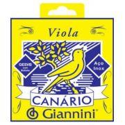 Encordoamento Giannini GESVB (Canário) para Viola (Tensão Média)