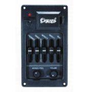 Kit Equalizador 5 bandas para violão c/ captador de rastilho Omega - Deval - GKRO5