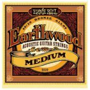 Encordoamento Ernie Ball 2002 Eartwood 80/20 Bronze Medium para Violão Aço 13-56 (.013)