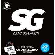 Encordoamento para guitarra SG Níquel 09-42 (.009)